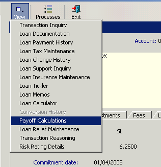 loan payoff calculations documentation